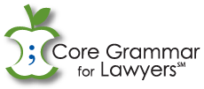 Core Grammar for Lawyers (CGL)